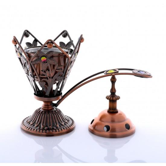 Charcoal Bakhoor Burner WT008S - Bronze