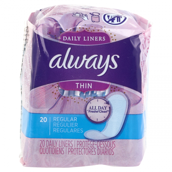 Always Daily Liners Thin Regular -20