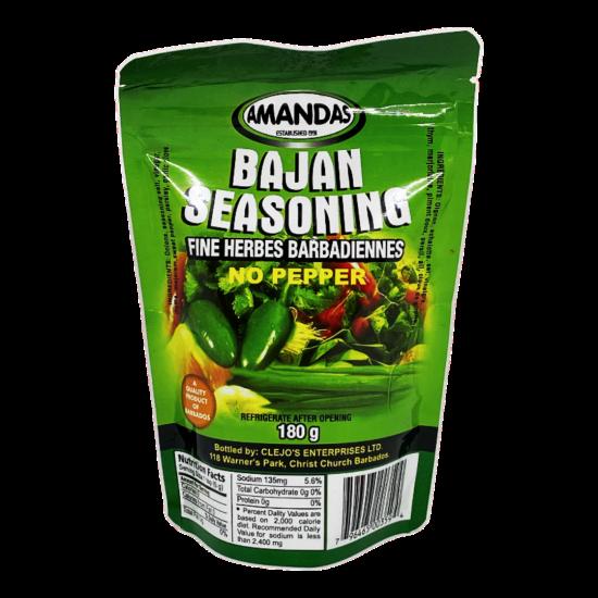 Amandas Bajan Seasoning No Pepper -180g