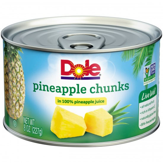 Dole Pineapple Chunks In Heavy Syrup -8.25oz