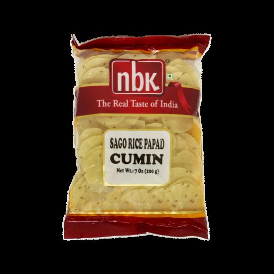NBK Sago Rice Papad Cumin 200g