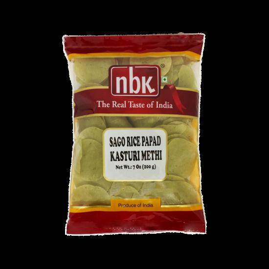 NBK Sago Rice Papad Kasuri Methi 200g