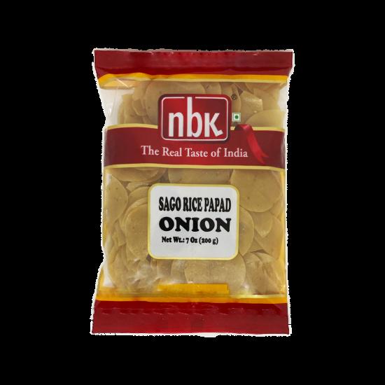 NBK Sago Rice Papad Garlic 200g