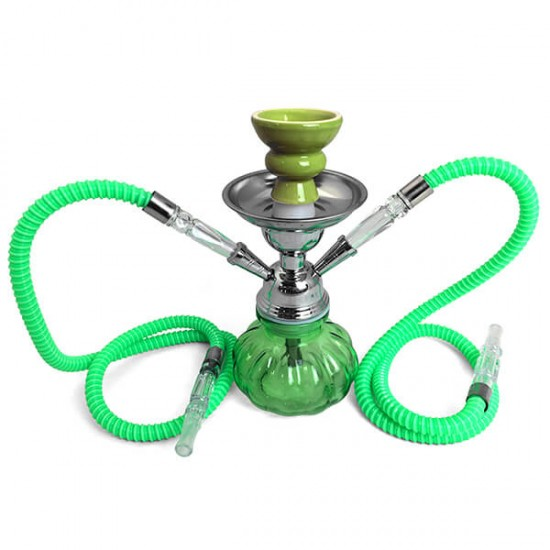 "The Pumpkin Two Hose: 10"" Two Hose Hookah"
